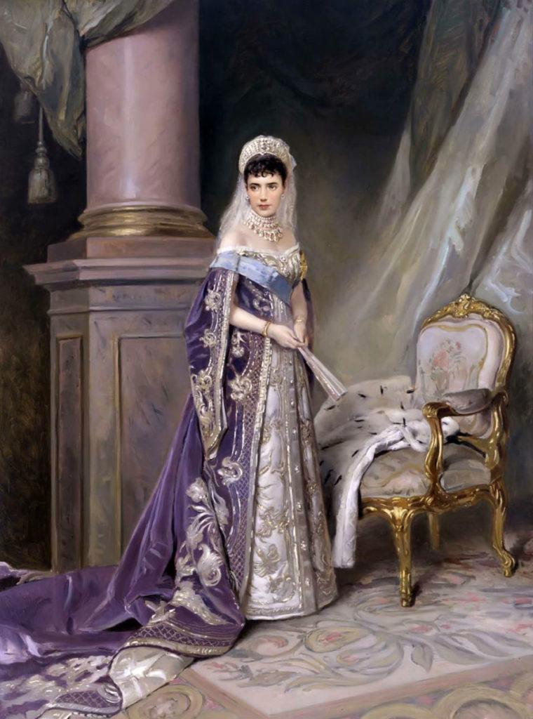 Portrait of Empress Mariya Feodorovna (Dagmar) wife of Emperor Alexander Alexandrovich (Alexander III).