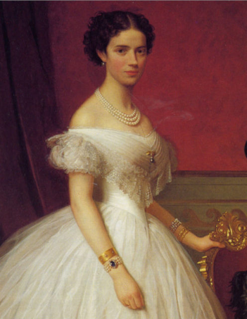 The Danish Princess Maria Dagmar is the future wife of the Tsarevich Alexander Alexandrovich (Alexander III).