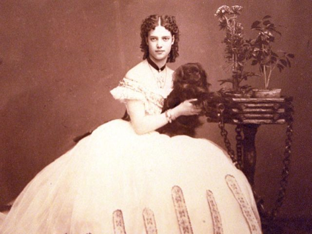 The Danish Princess Maria Dagmar. June 1866.