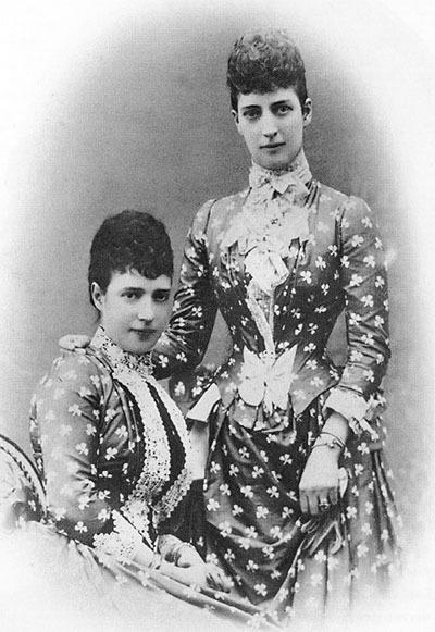 Tsesarevna Maria Feodorovna (Dagmar) and her sister Alexandra Danish.