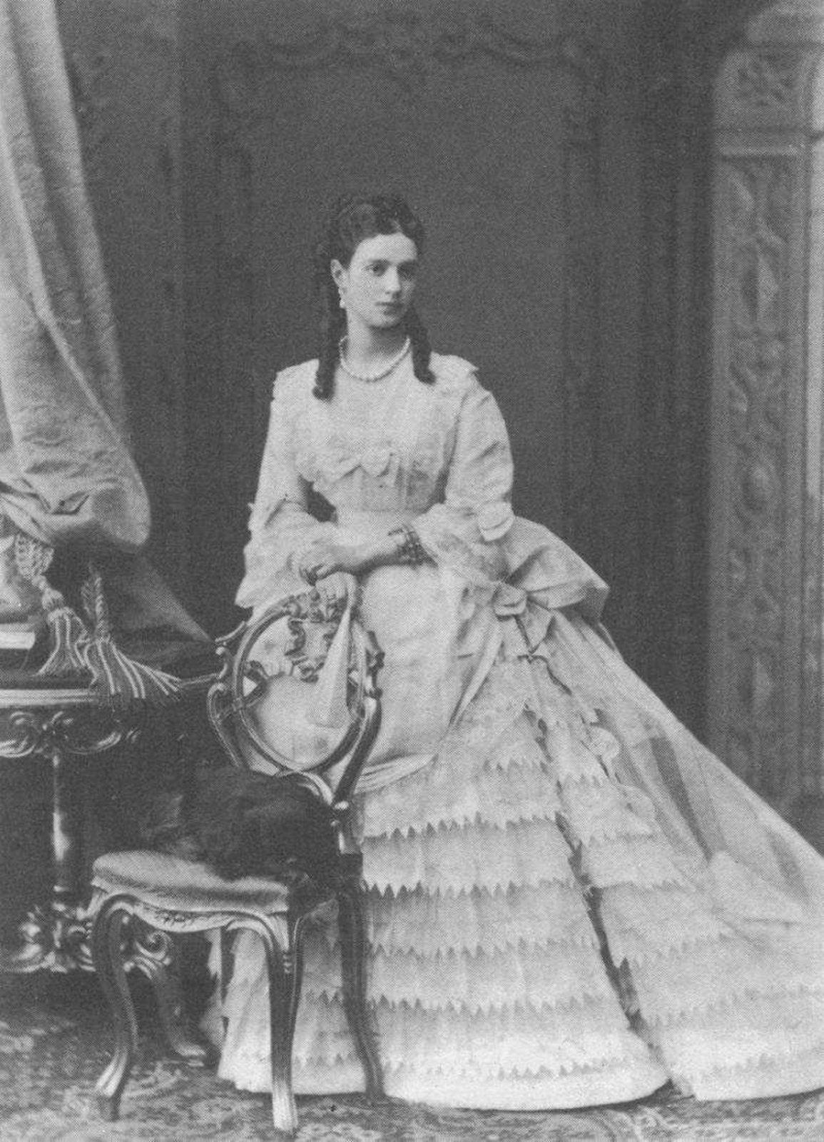 Tsesarevna Maria Feodorovna (Danish princess Maria Dagmar) the wife of the Tsarevich Alexander Alexandrovich (Alexander III). Around 1868.