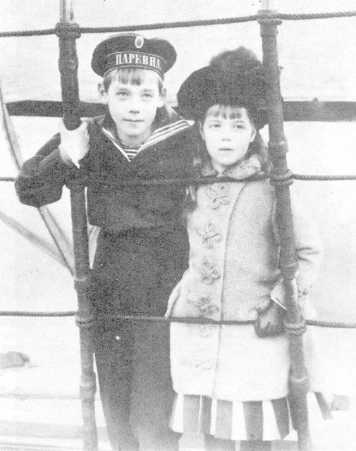 Children of Emperor Alexander III and Empress Maria Feodorovna Grand Princess Olga Alexandrovna and Grand Duke Mikhail Alexandrovich.