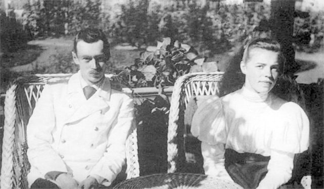 Her Highness Grand Duchess Olga Alexandrovna and her brother Grand Duke Georgii Alexandrovich.