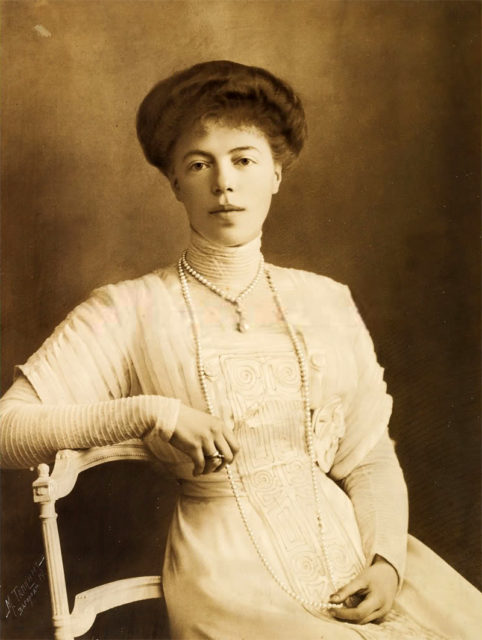 Her Highness Grand Duchess Olga Alexandrovna, the youngest daughter of Emperor Alexander III and Empress Maria Feodorovna.