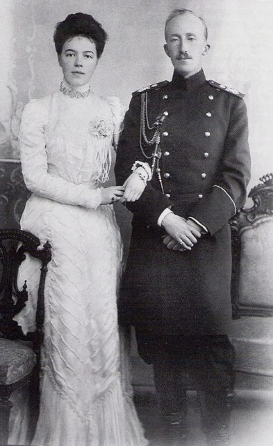 Her Highness Grand Princess Olga Alexandrovna and her first husband Herzog Peter Aleksandrovich Oldenburg.