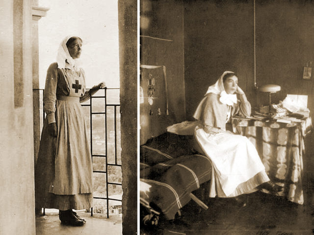 Her Highness the Grand Duchess Olga Alexandrovna worked as a nurse during the First World War.