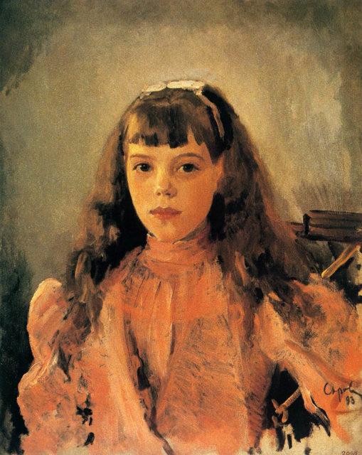 Portrait of Grand Duchess Olga Alexandrovna, daughter of Emperor Alexander III.