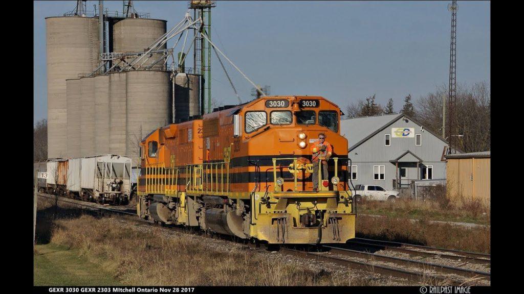 "RAILREEL ""CHASING GEXR"" Stratford to Goderich Ontario Nov 28 2017"