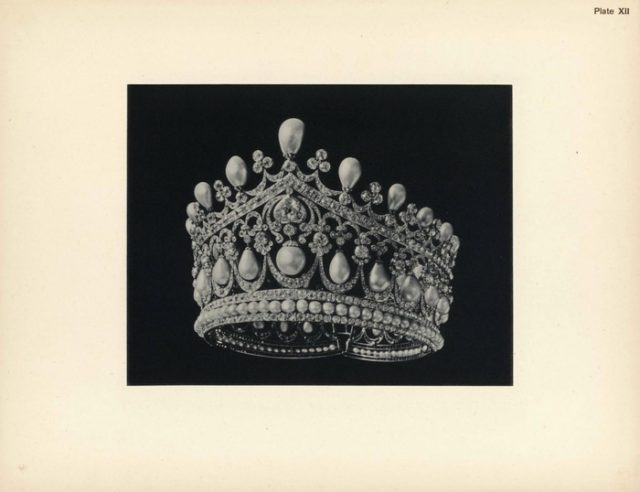 Great diamond tiara. Jewels of the House of the Romanovs.