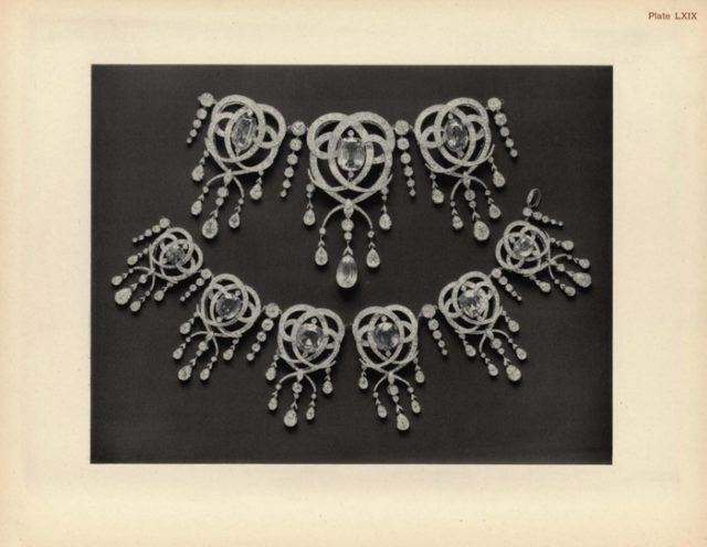 Fersman's Catalog. Fragments of jewelry from the collection of the Imperial Romanov House.