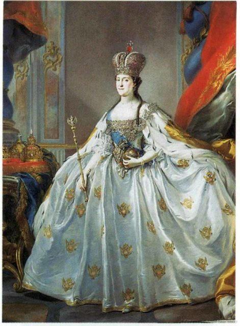 """Coronation Portrait of Catherine II."" Russian empire. House of the Romanovs."