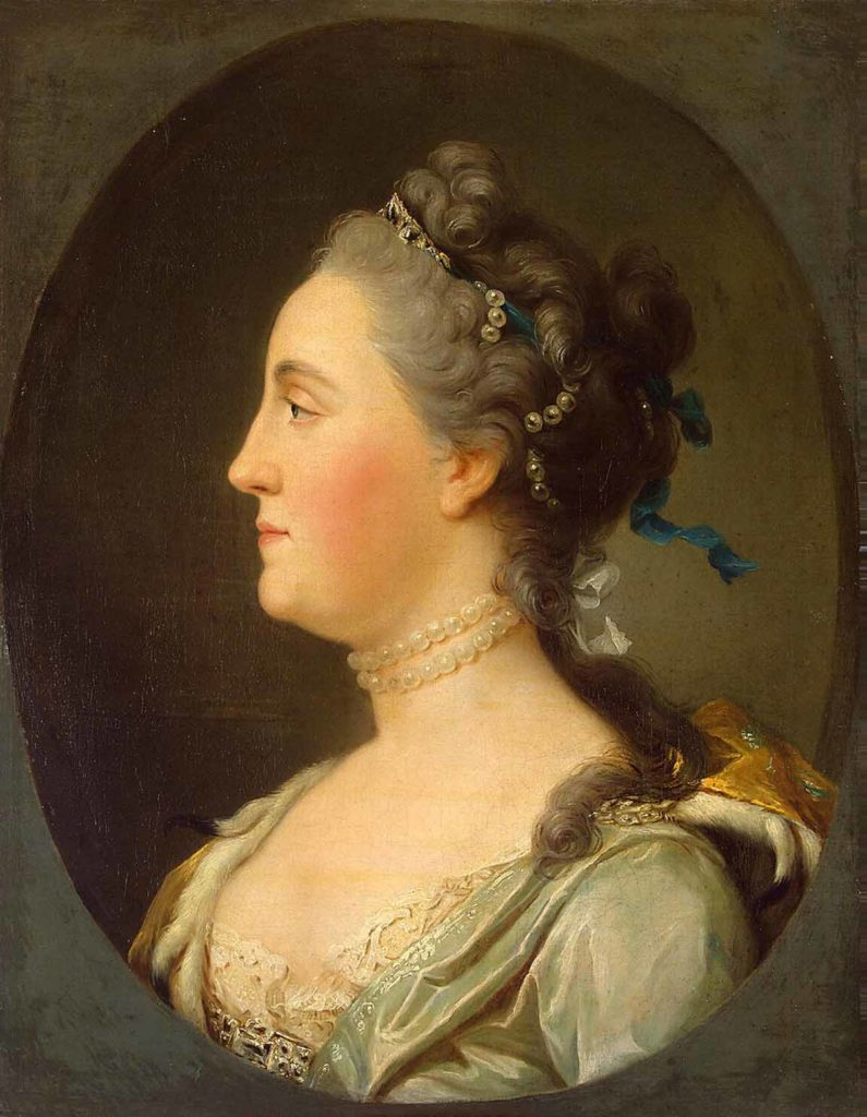 """Portrait of Catherine II in profile"". Russian empire. House of the Romanovs."