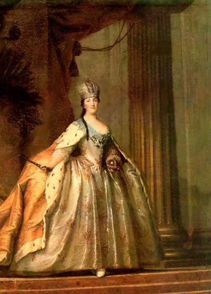 """""""Portrait of the Empress Catherine II."""" Russian empire. House of the Romanovs."""
