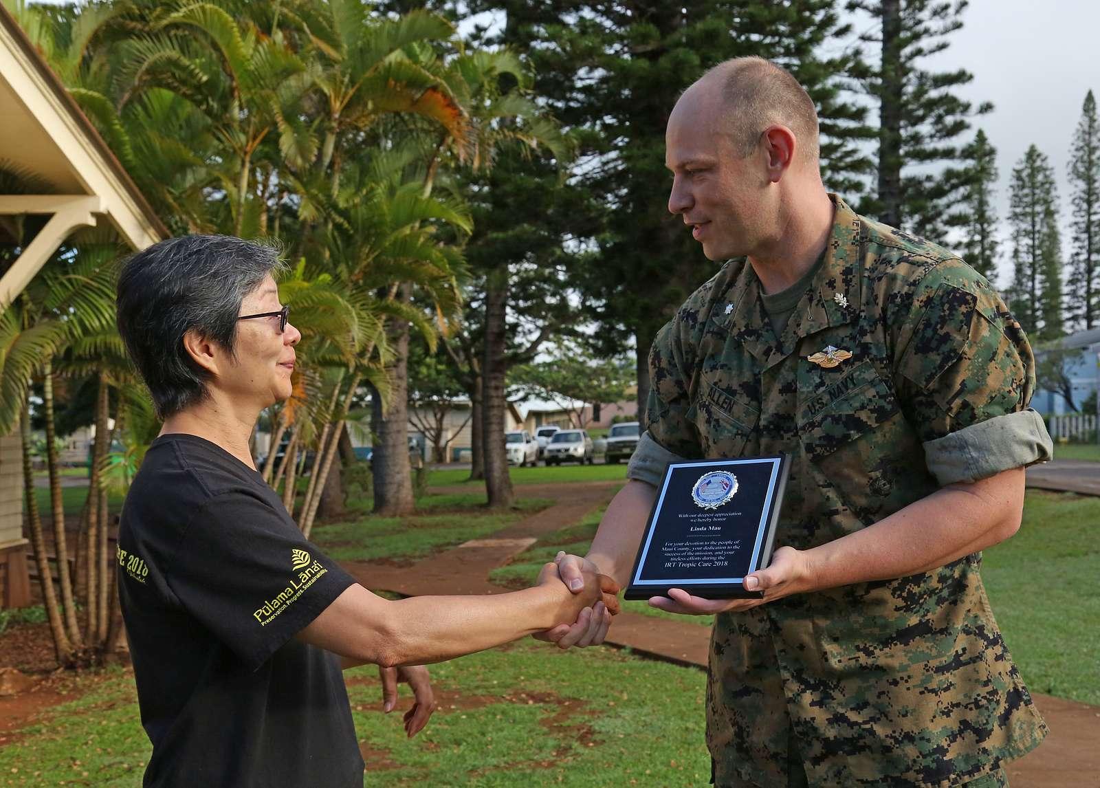 Linda Mau, Tropic Care volunteer and Lanai public health