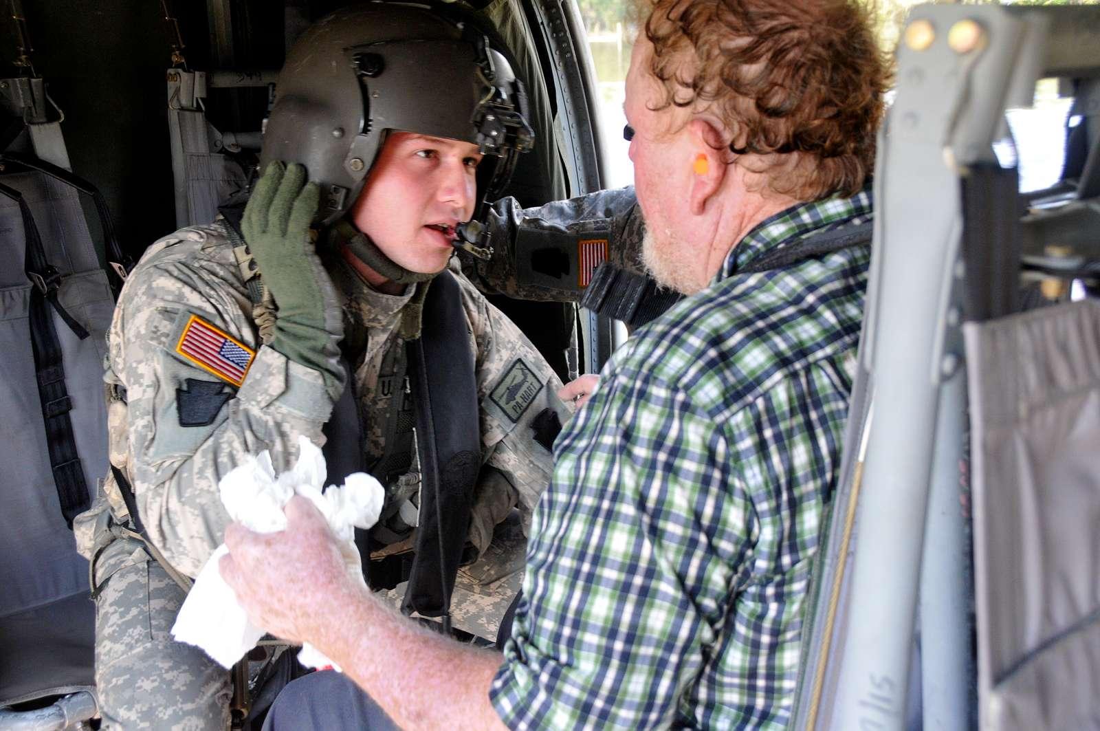 U.S. Army Sgt. Matt Terchanik, crew chief with the