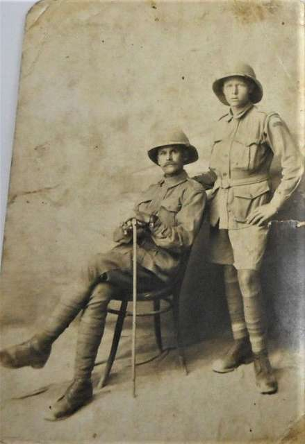 Possibly Charles John Henry Williamson (standing) #1851 - WW1