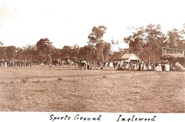 Sports Ground at Inglewood, Qld - 1909