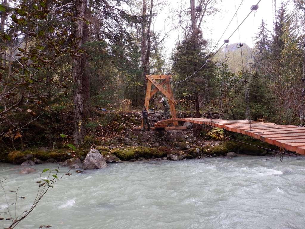 Repairing the suspension bridge