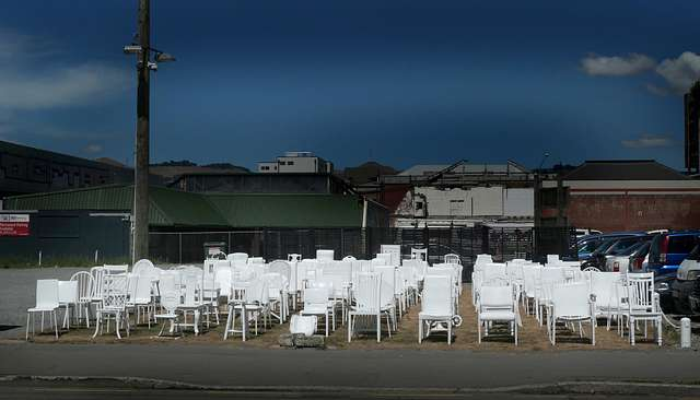 185 empty chairs,