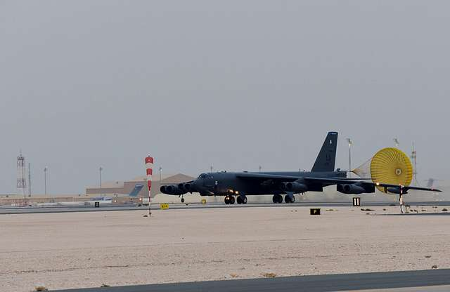 Boeing B-52 Stratofortress's Arrrive at Al Udeid Air Base