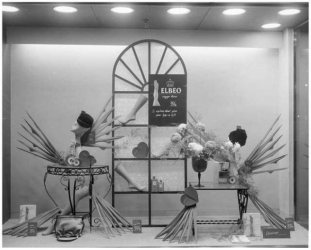 Bainbridge's window display, Newcastle 1960