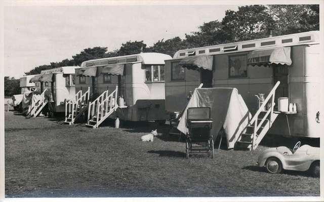 Chipperfield Circus caravans, Town Moor, Newcastle