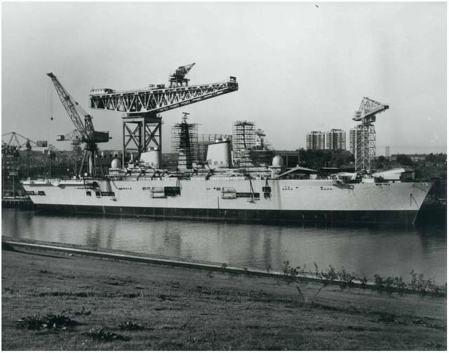 HMS Ark Royal - Fitting out - 27th September 1983