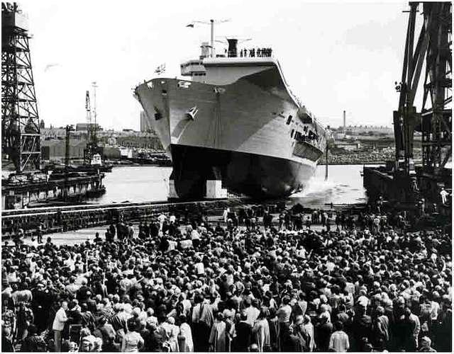 HMS Ark Royal - Launch - 20th JUNE 1981