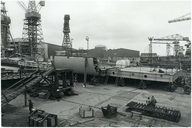 HMS Ark Royal - under construction - 13th March 1979