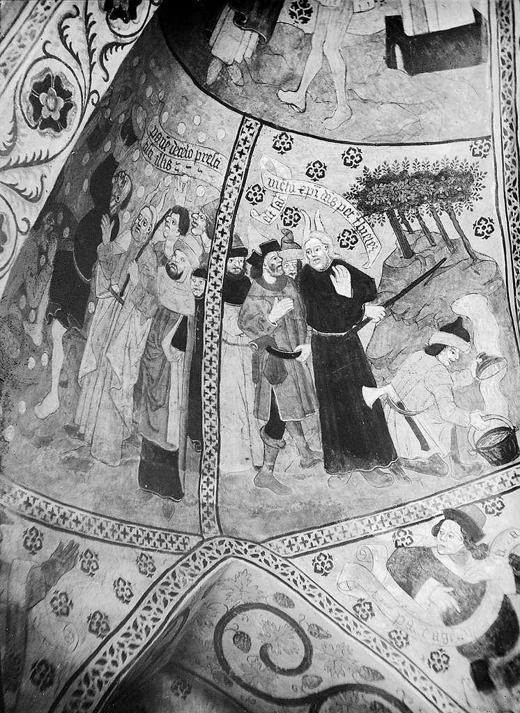 Mural painting, Täby Church, Uppland, Sweden
