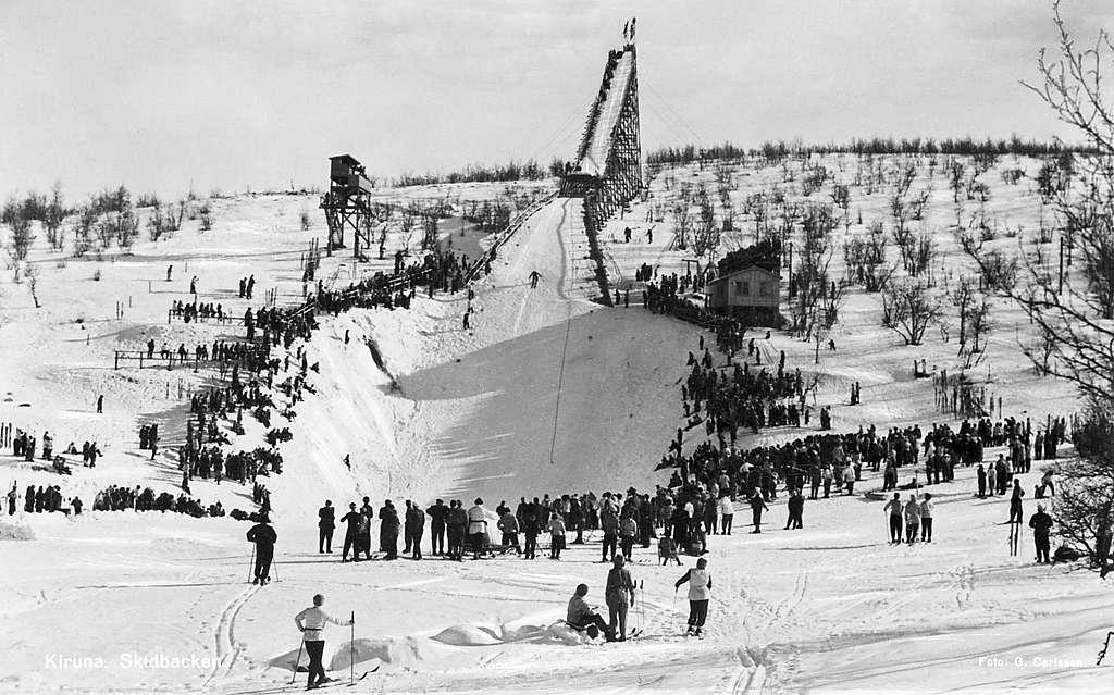 The ski jump in Kiruna, Lappland, Sweden