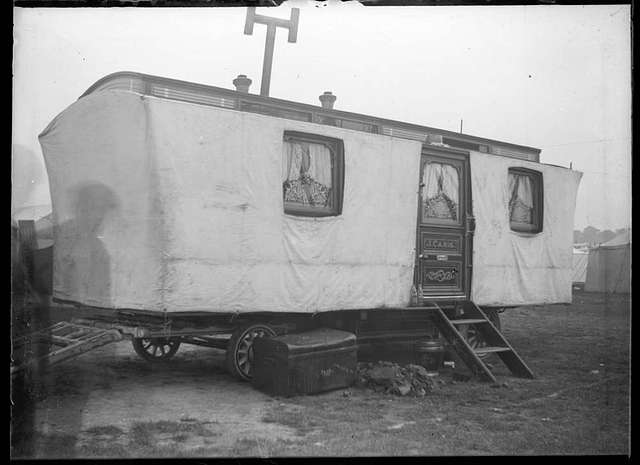 Travelling showman's covered caravan