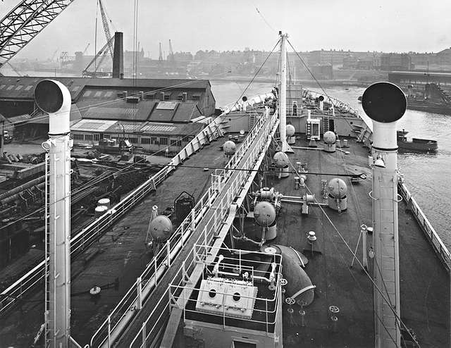 Deck view on the 'Hoegh Ranger'