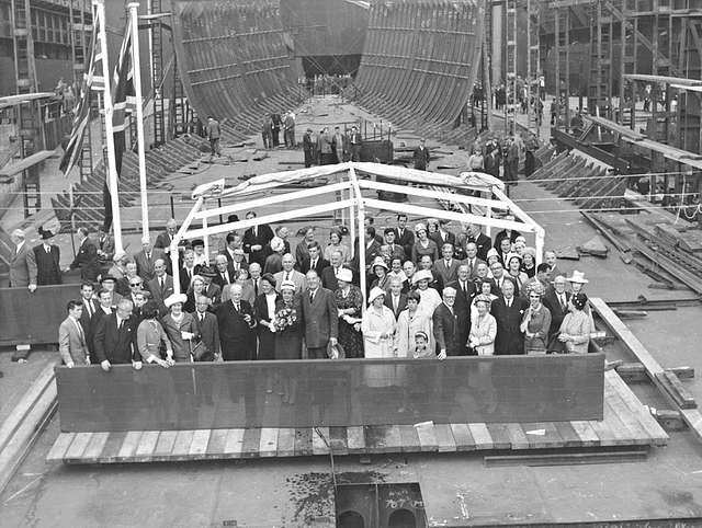 Launch party of the cargo ship 'Eastern Rover'