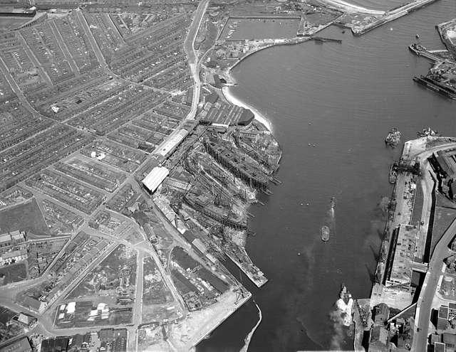 North Sands shipyard, Sunderland, 1950