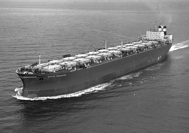Sea trials of 'Naess Crusader'