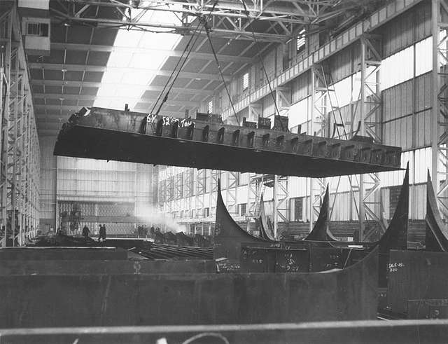 The pre-fabrication shed, North Sands shipyard