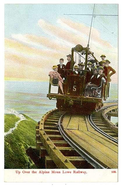 Up over the Alpine Mount Lowe Railway