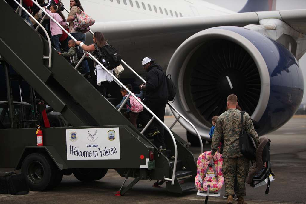 Military families voluntarily evacuate Japan
