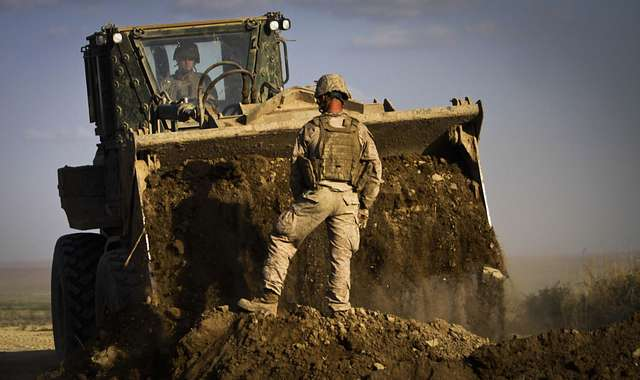Marines build bridges in Haji Hanif Khan, Afghanistan