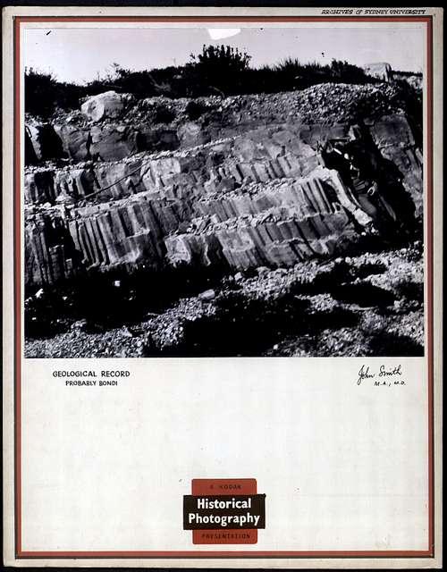 Geological Record, probably Bondi (not dated) Archives of Sydney University. John Smith, M.A.; M.D.