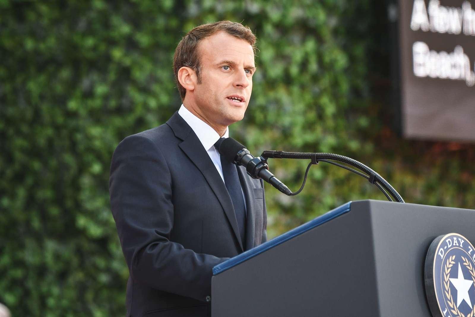 President Emmanuel Macron, the President of France, - U.S. National Archives & DVIDS Public Domain Search