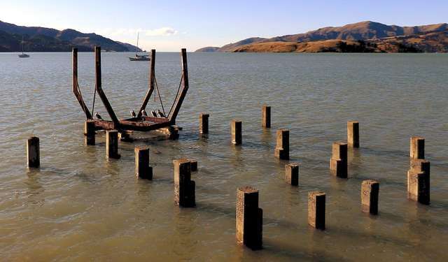 The old slipway Governors Bay.NZ