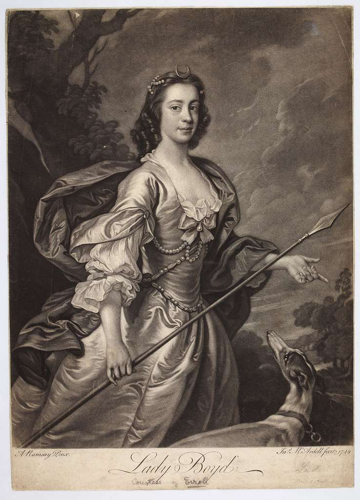 Lady Boyd as the Goddess Diana