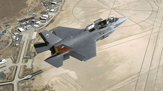 Lockheed Martin F-35 Lightning II over Edwards AFB, CA