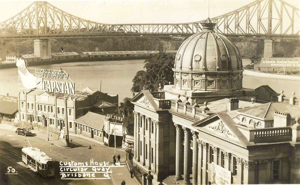 Customs House, Circular Quay, Brisbane, Qld - 1940s
