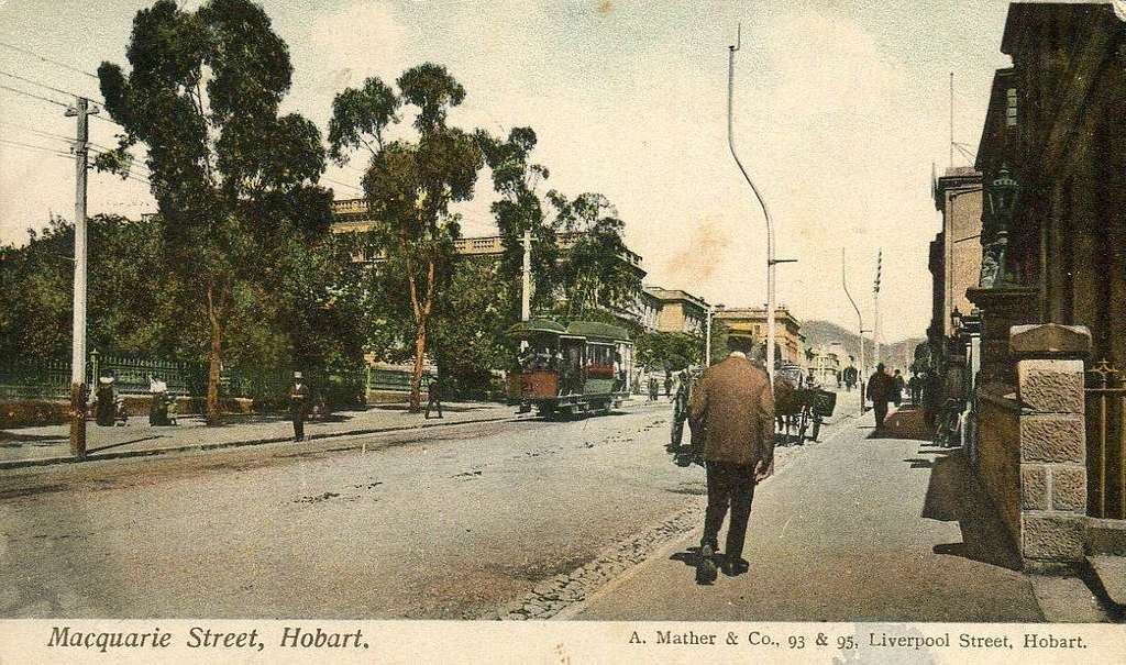 Macquarie Street, Hobart - 1906