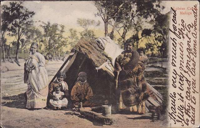 Lubras Camp, Maloga, New South Wales - 1890s