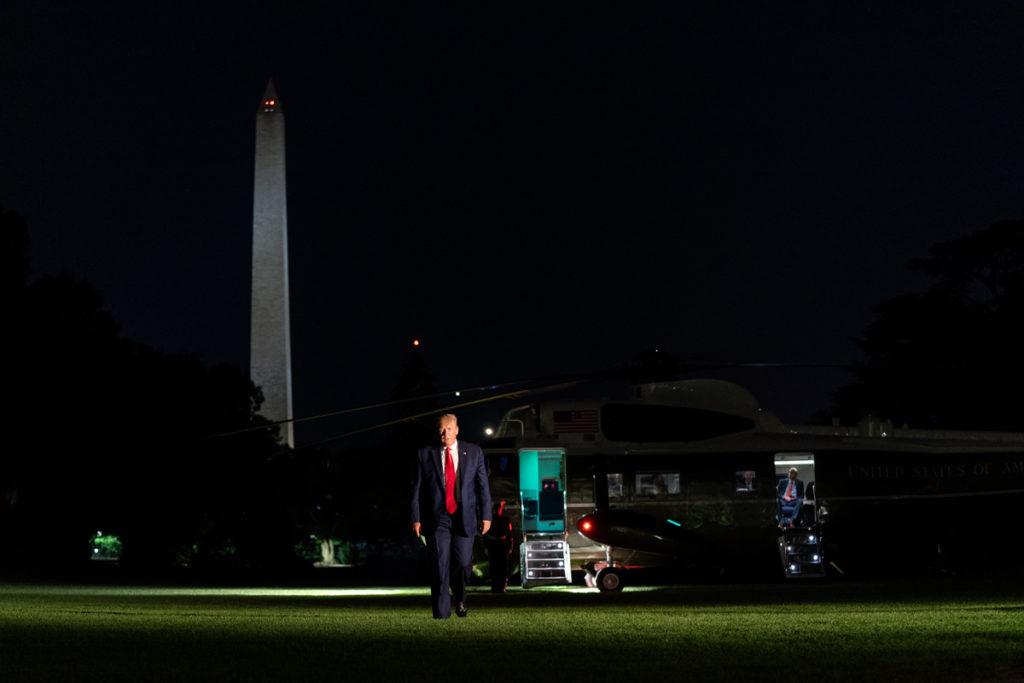 President Trump Returns from Ohio