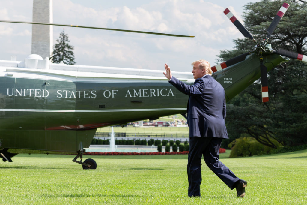 President Trump on the South Lawn